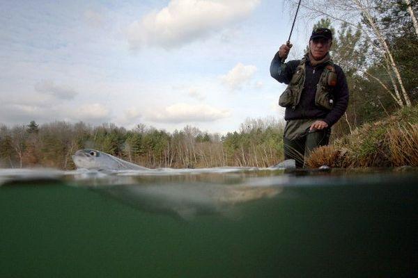 Un pêcheur à la truite