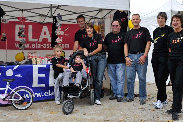 Le stand de l'association ELA