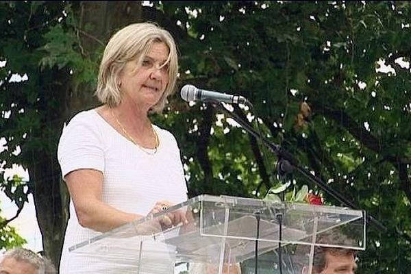 Cécile Untermaier, à la Fête de la Rose à Frangy-en-Bresse