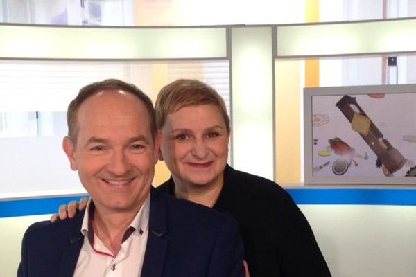 Alain Fauritte avec Sonia Ezgulian , qui animera une chronique gourmande
