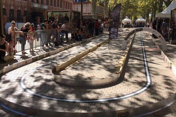 Le circuit de la course de robots à Toulouse