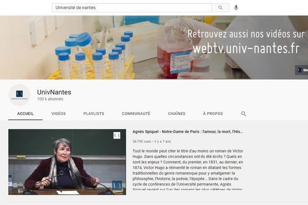 Première chaîne Youtube universitaire en terme d'audience, UnivNantes a dépassé les 100 000 abonnés