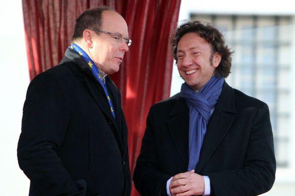 Le Prince Albert II de Monaco et Stéphane Bern en 2011 à Monaco lors du festival de cirque.