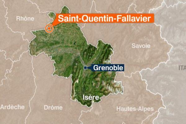 Carte de Saint-Quentin-Fallavier