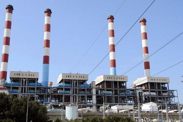 La centrale thermique de Martigues. GERARD JULIEN / AFP