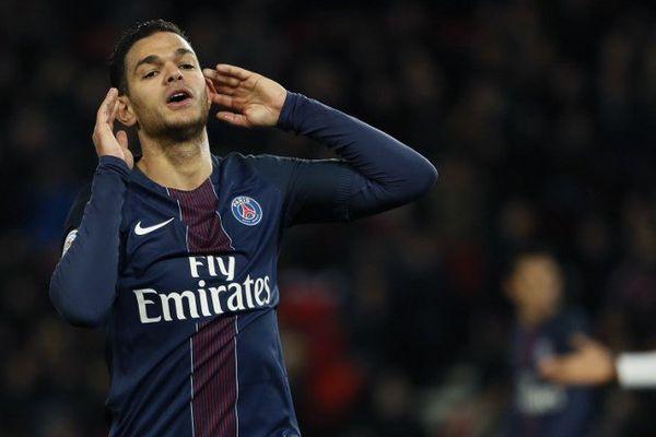 Hatem Ben Arfa, vêtu du maillot du PSG, lors du match contre Lille au Parc des princes le 7 février dernier.