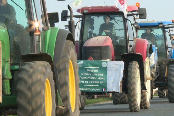 Ces agriculteurs manifestent contre un nouveau projet de PAC.