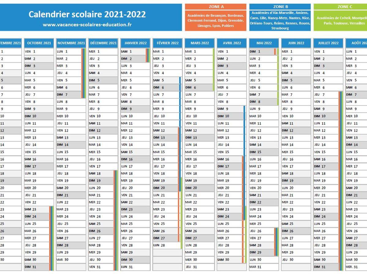 Calendrier 2022 Scolaire 2022 A Imprimer Éducation : téléchargez le calendrier scolaire officiel et les
