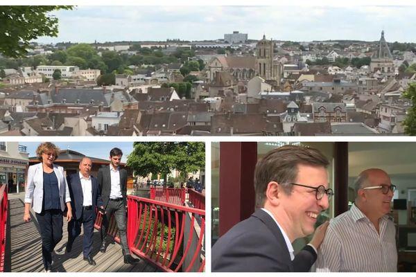 Michaële de La Giroday (à gauche) et Pierre-Frédéric Billet (à droite) ont intégré les questions liées aux crises sanitaire et économique dans leur programme, pour le second tour des municipales à Dreux.