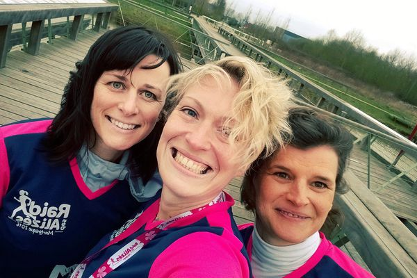 Bérangère, Flore et Véronique forment l'équipe des Mad&Mums.