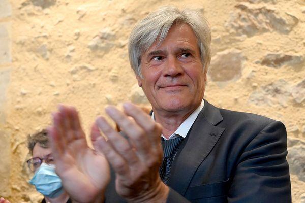 Stéphane Le Foll, le 28 juin 2020, lors du second tour des municipales, au Mans