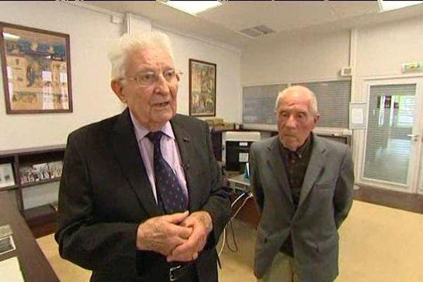 Le colonel Roland Legrand et son camarade André Collard, membres de la Résistance.