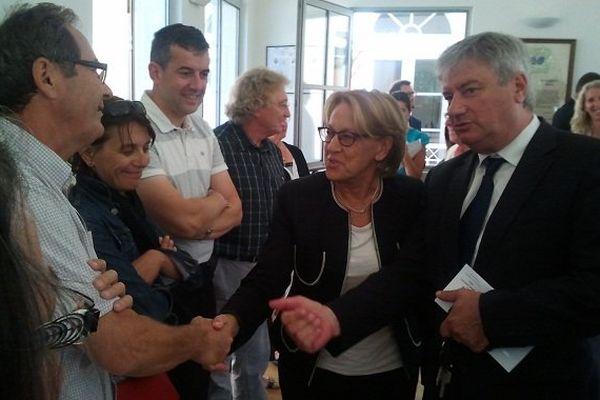 Marylise Lebranchu en visite auprès des sinistrés