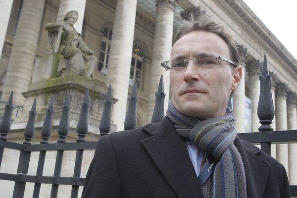 Nicolas Forissier, ancien cadre de la banque UBS et lanceur d'alertes, en 2013 à Paris.