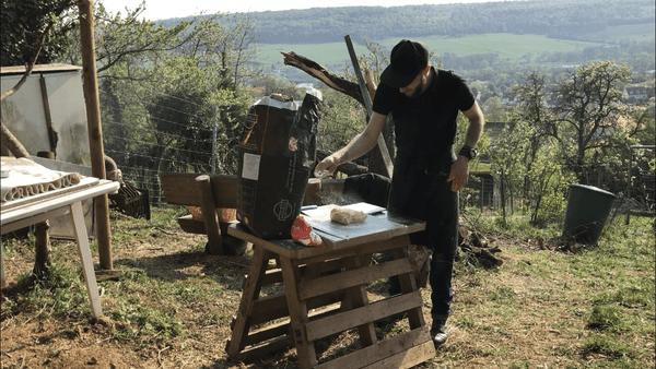 Préparation avec vue imprenable sur Chaligny et la Moselle