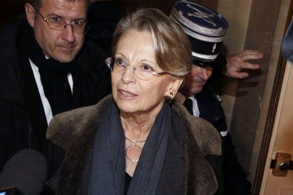 Michèle Alliot-Marie au Palais de Justice de Paris le 4 décembre 2012