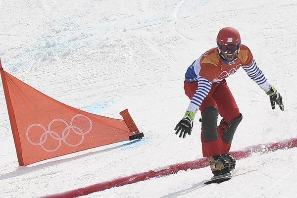 Sylvain Dufour a échoué au pied du podium de slalom géant parallèle, le 24 février aux Jeux Olympiques de Pyeongchang (Corée du Sud).