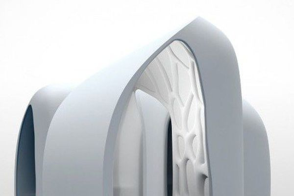 Conception et réalisation du Pavillon 3D, premier bâtiment construit avec une imprimante 3D.