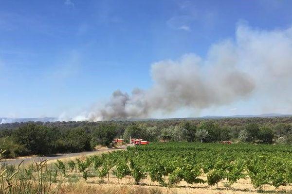 L'incendie reprend dans le secteur de St Cannat