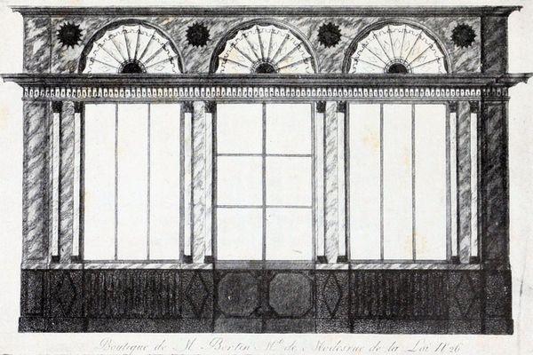 Boutique de Rose Bertin en 1807 (n° 26 de la rue de la Loi, à Paris).