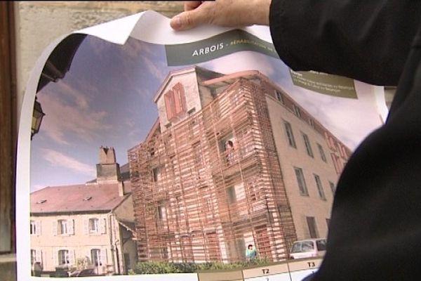 Un ancien projet mais bientôt de nouveaux plans pour le futur de l'ancienne prison d'Arbois.