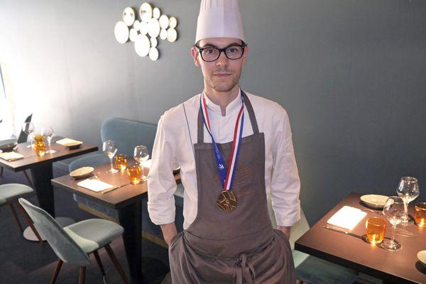 Paul Marcon, médaillé d'or lors des olympiades nationales des métiers en mars 2017