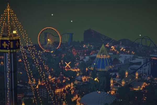 Une impressionnante vue de nuit.