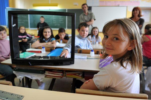 Les élèves de l'école Condorcet à Liévin, en novembre 2011