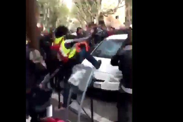 """En marge de la manifestation des """"Motards en colère"""", une altercation avec un automobiliste a dégénéré"""