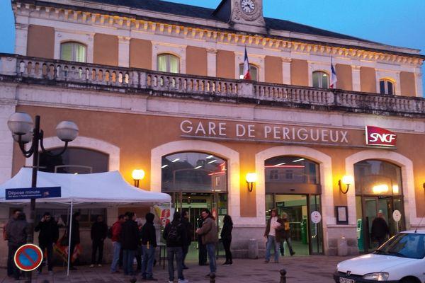 La gare de Périgueux, ce jeudi 15 janvier, au lever du jour