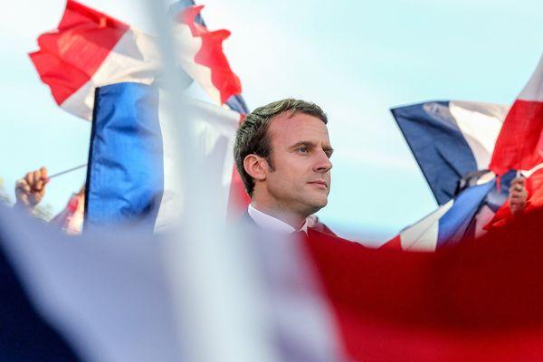 Emmanuel Macron lors de la campagne à Albi