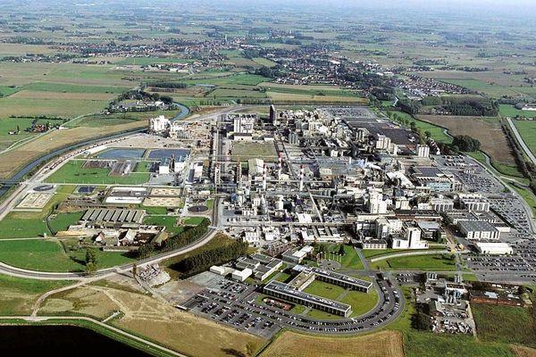 Une vue aérienne de l'usine Roquette, prise en 2006.