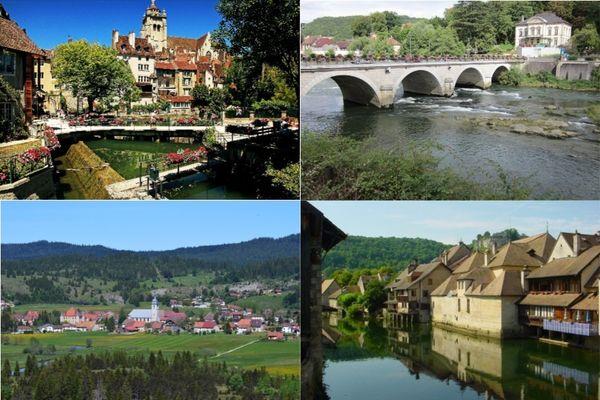Dole, Pont-de-Roide, Mouthe et Ornans