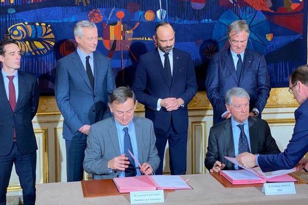 La commande ferme a été signée ce lundi 20 janvier 2020 en présence d'Edouard Philippe.