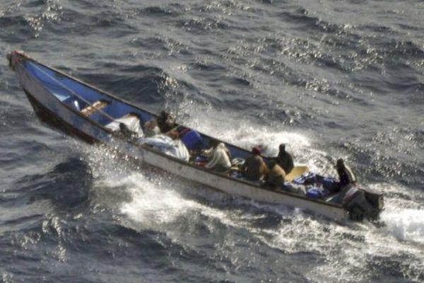 Les preneurs d'otage somaliens.