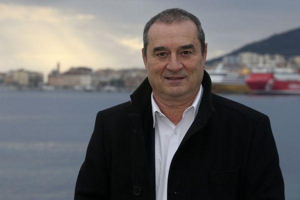 """François Filoni, tête de liste """"Les nôtres avant les autres"""", soutenue par le Rassemblement National, aux élections territoriales 2021 en Corse."""