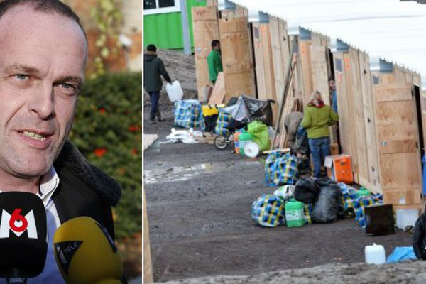 Steeve Briois (FN). Le camp de migrants de Grande-Synthe.