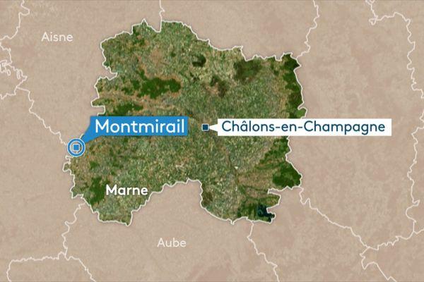 L'accident s'est produit sur la D373, près de la commune de Montmirail