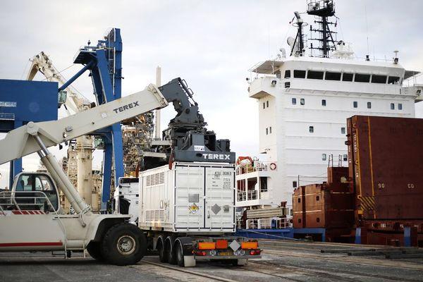 Le BBC Austria est arrivé ce vendredi matin à Cherbourg avec à son bord deux tonnes de combustibles irradiés en provenance d'Australie