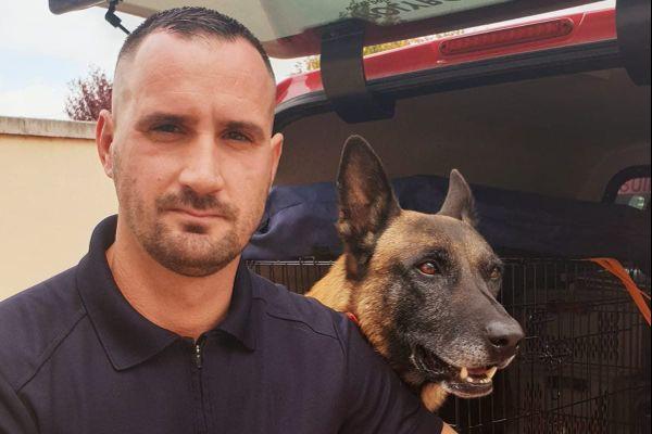 Iross et le sergent Christophe sont partis aider à la recherche de victimes de la tempête Alex sur la Côte-d'Azur.