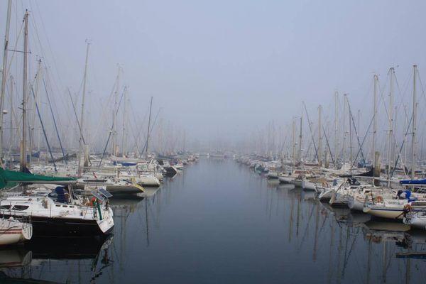 Une vue du port de Cherbourg-Octeville, dans la Manche.