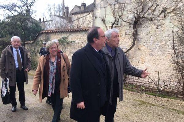 François Hollande à Jarnac