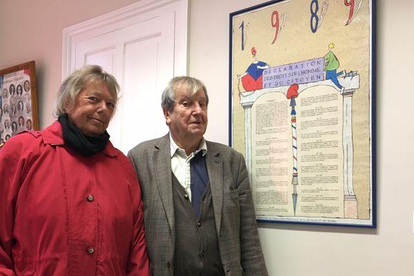 Maggie Everton, en compagnie de Jean-Claude Charpentier, maire de Saint-Sébastien.