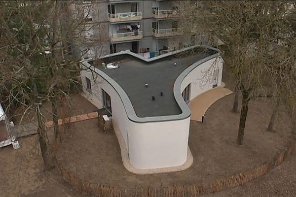 La maison à Nantes réalisée par le robot Batiprint.