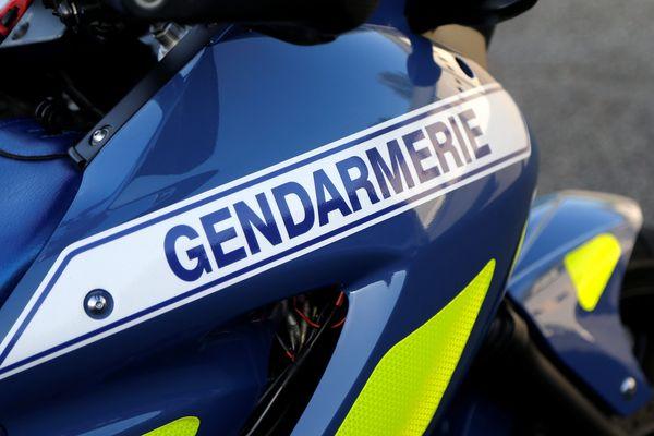 Une moto de peloton motorisé de gendarmerie en Franche-Comté. (image d'illustration)
