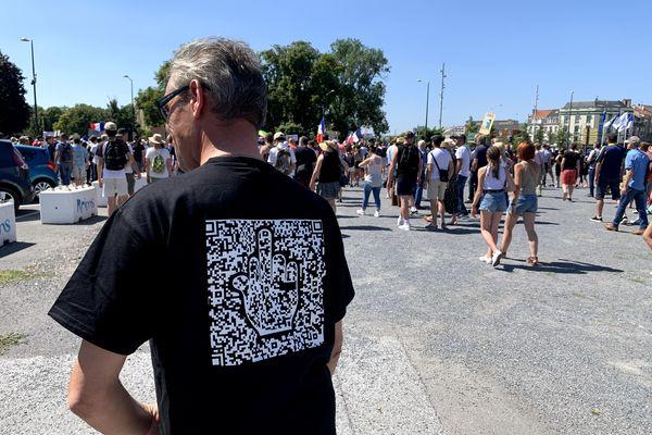 Un QR code évocateur contre le pass sanitaire à Reims.