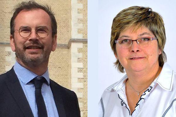 Benoit Potterie (LREM) et Karine Haverlant (FN)
