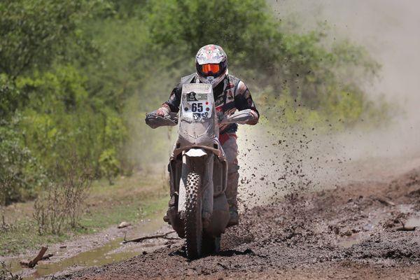 Le pilote deux-sèvrien, Guillaume Chollet, en Argentine lors du Dakar 2017.