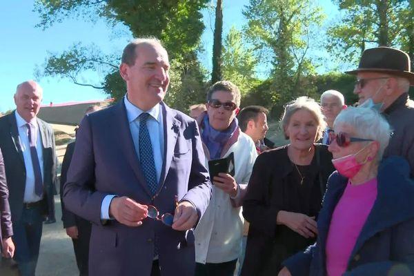 Prades (Pyrénées-Orientales) - Jean Castex sur ses terres en visite - 22 octobre 2021.