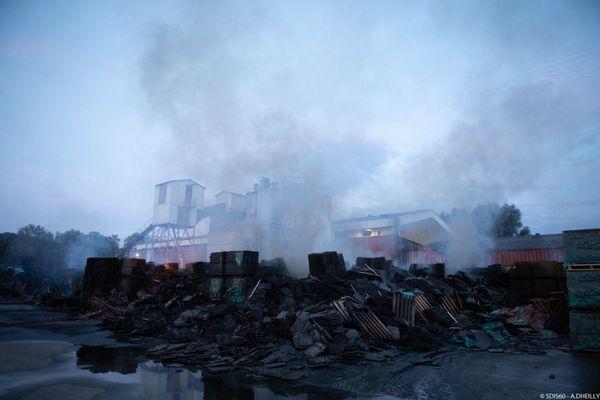 Près de 600 000 tuiles ont été ravagées par les flammes